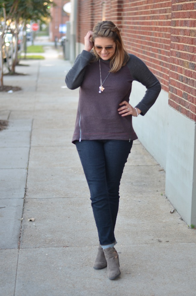 sweater tunic with jeans