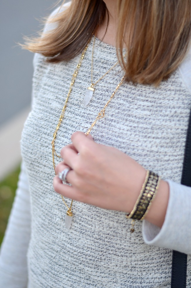 how wear layered stone necklace