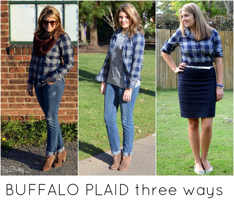 three ways to wear plaid top