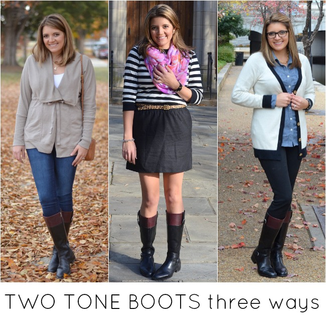 what to wear with two tone boots