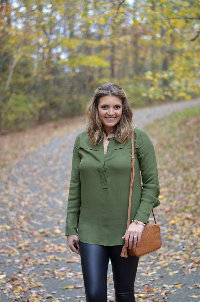 how wear faux leather leggings