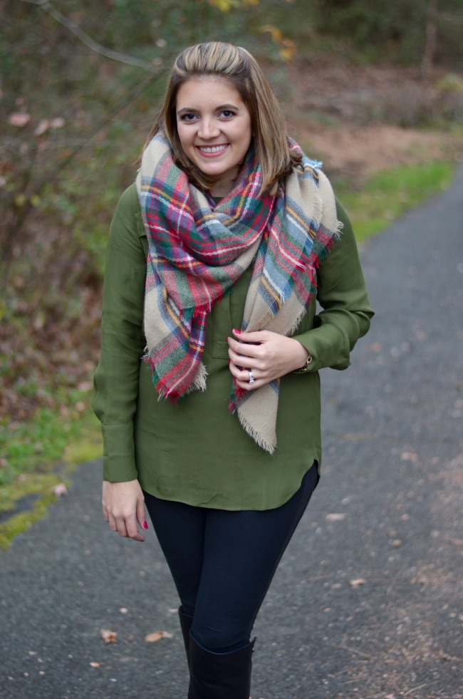 blanket scarf with popover
