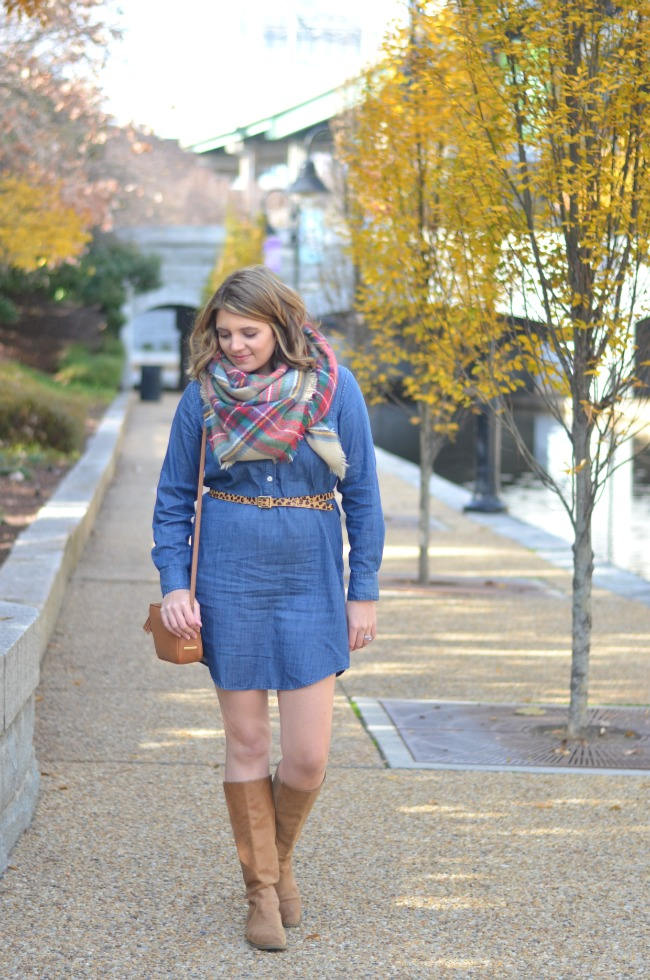 chambray dress for winter