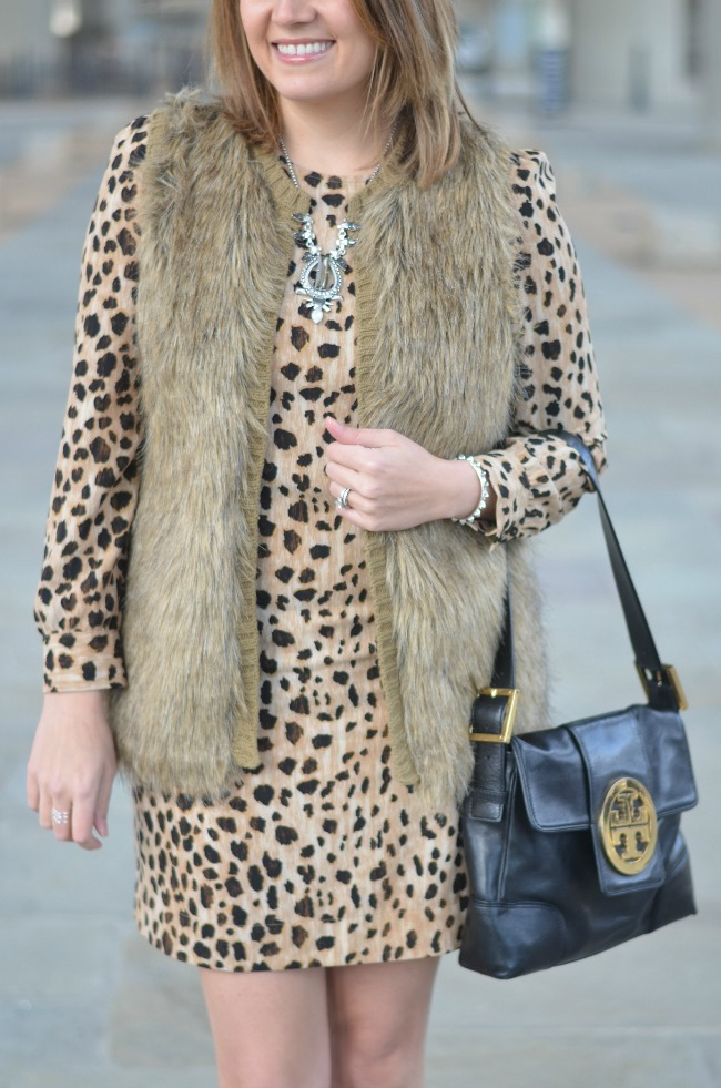 faux fur with animal print