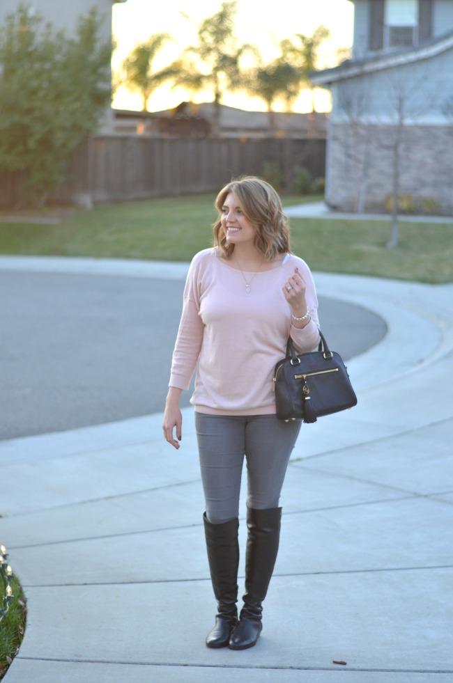 joes jeans, blush sweater