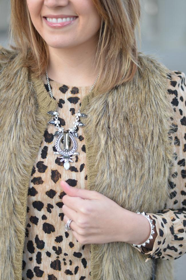 pendant with animal print