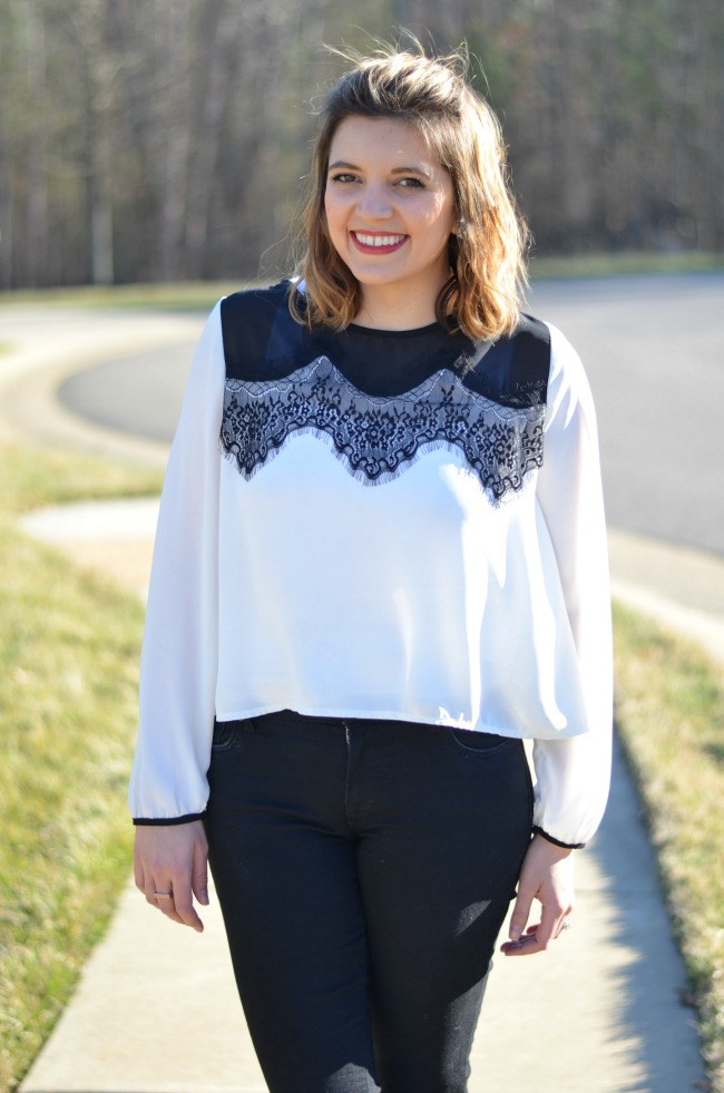 black and white lace for spring