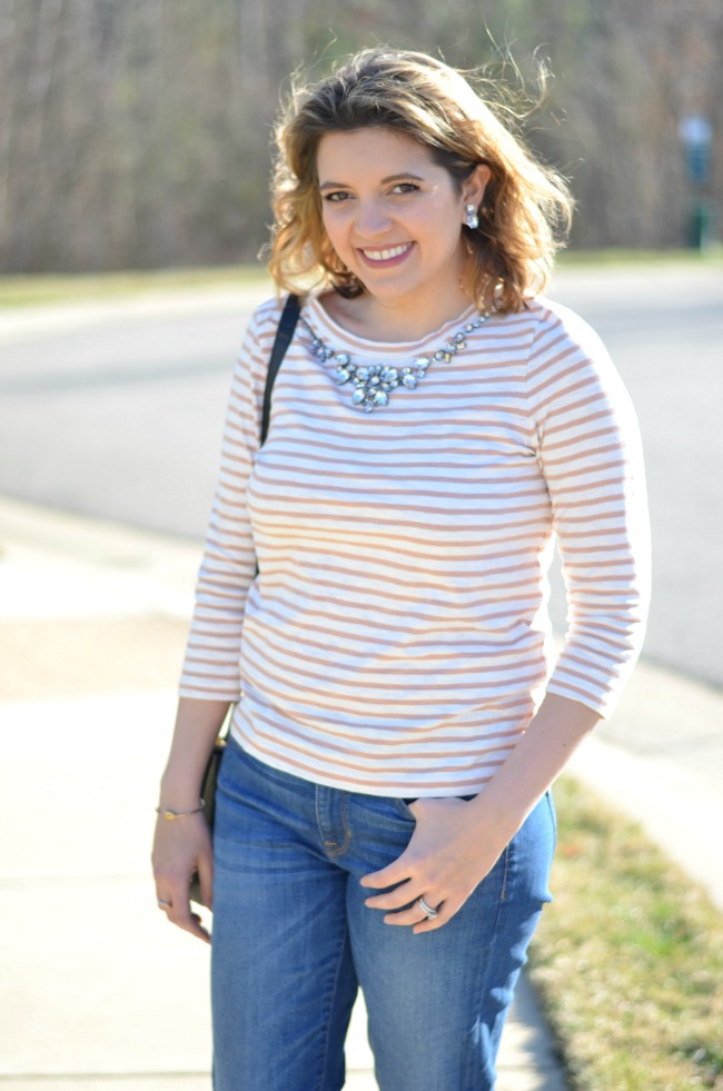 jeweled stripe tee