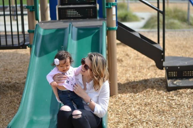 Layla + me on slide