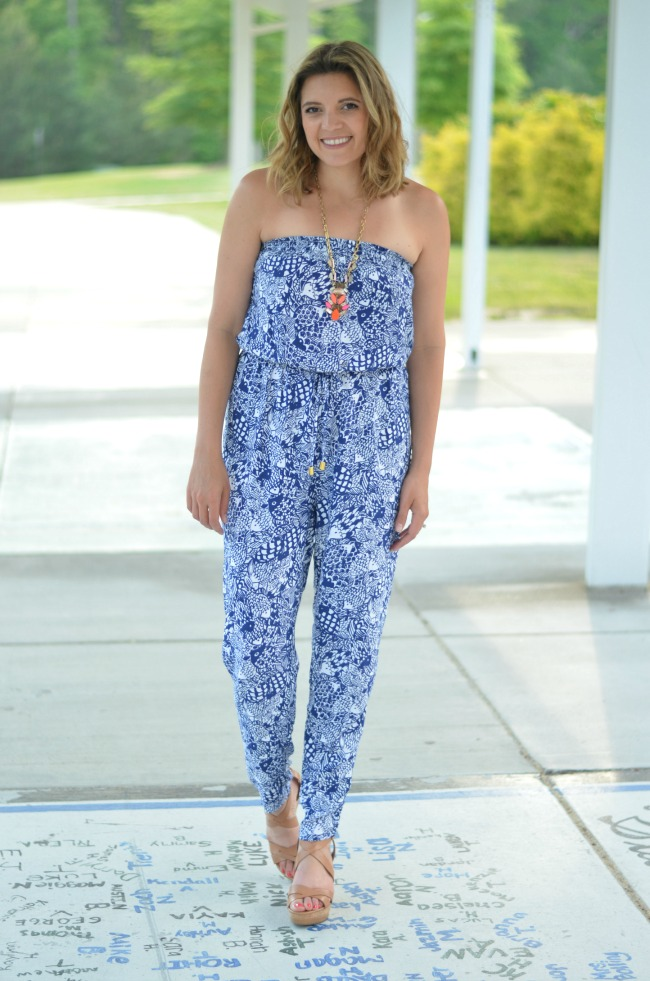 printed lilly pulitzer jumpsuit