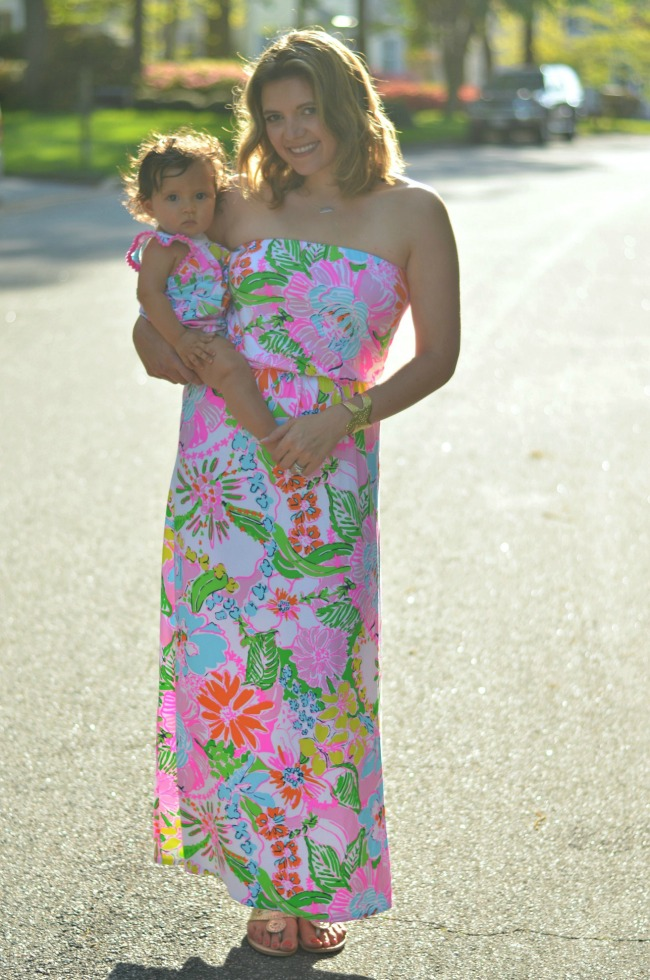 mom and baby matching lilly pulitzer
