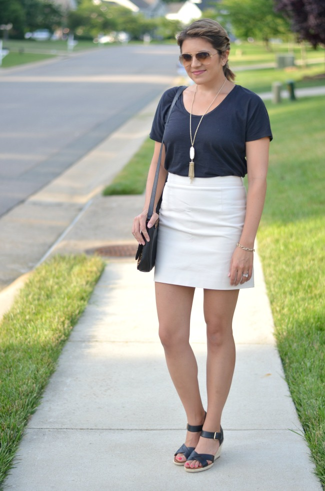 mini skirt with a tee from @fizzandfrosting