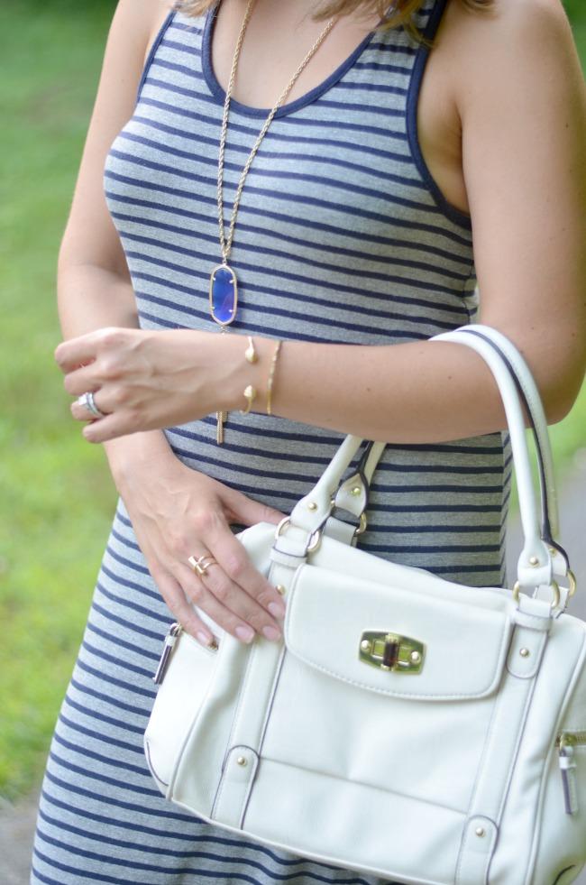 merona white satchel