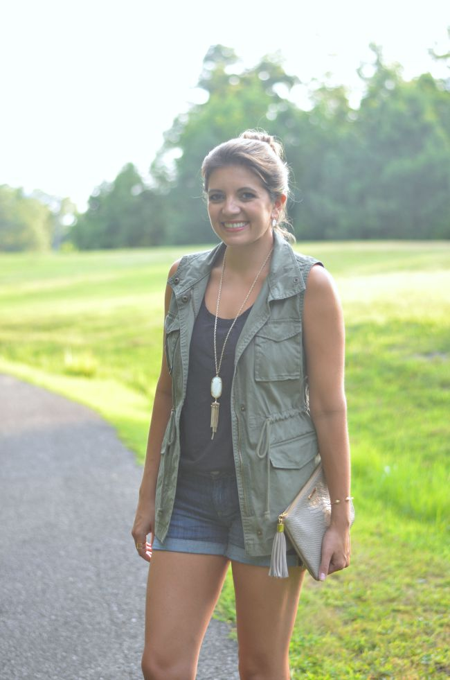 wear a utility jacket for summer via @fizzandfrosting