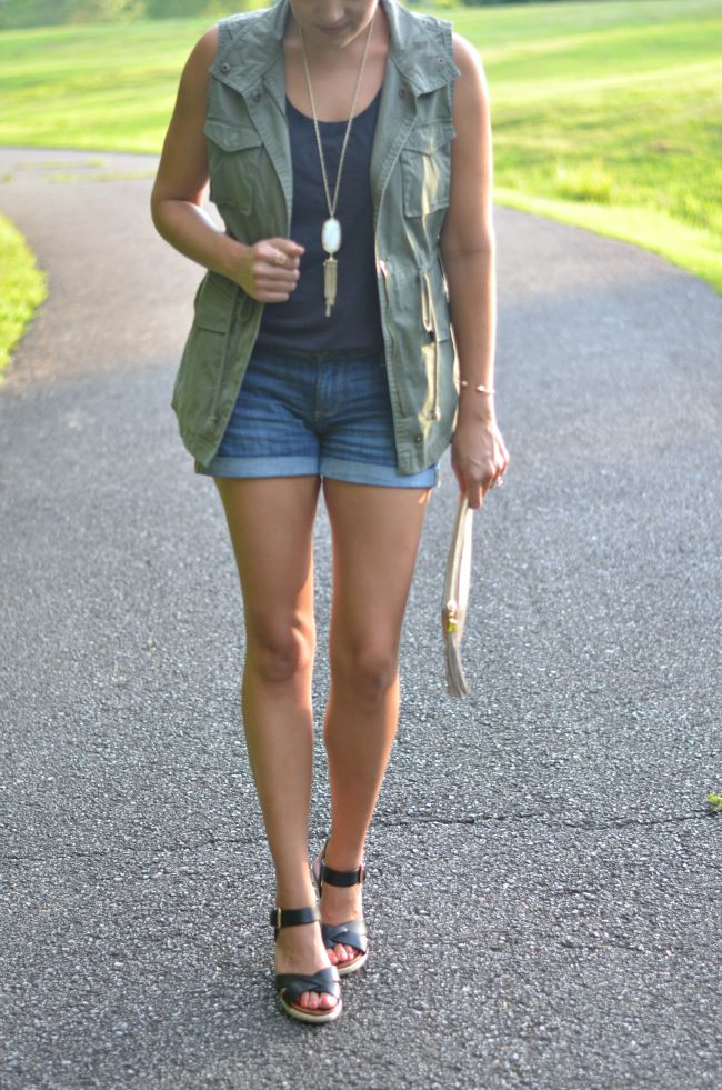 cargo vest with shorts via @fizzandfrosting