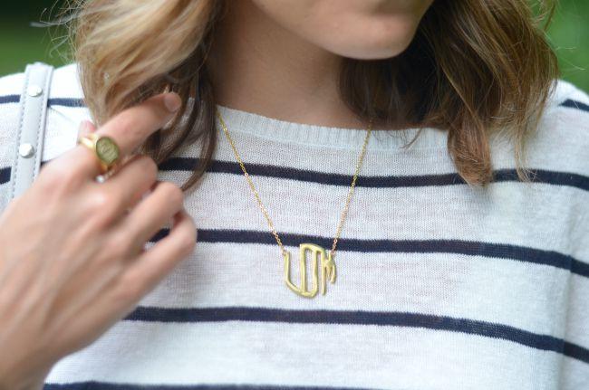 classic monogram necklace via @fizzandfrosting