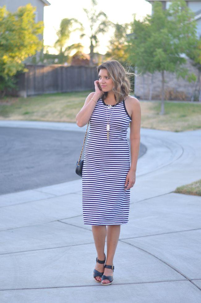 striped tshirt dress via @fizzandfrosting