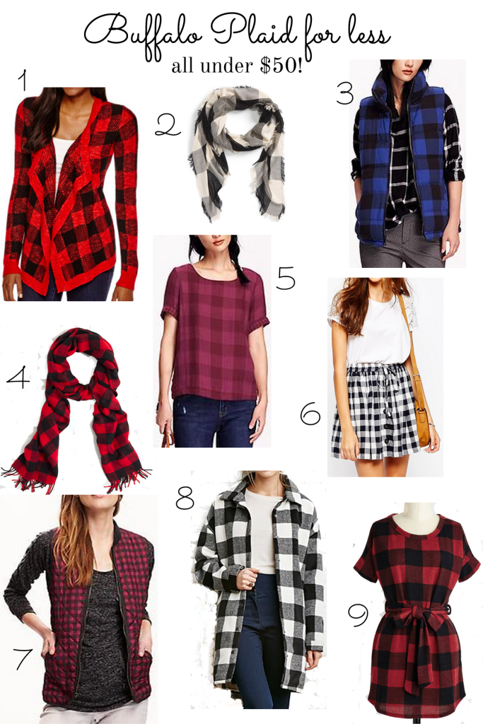 buffalo plaid finds under $50