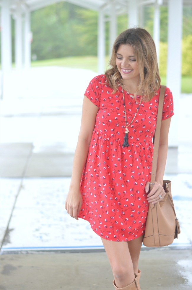 swing dress with boots via fizzandfrosting.com