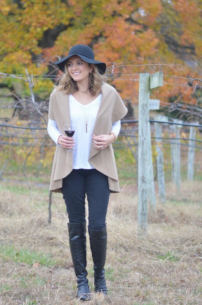 what to wear to a winery for fall via fizzandfrosting.com
