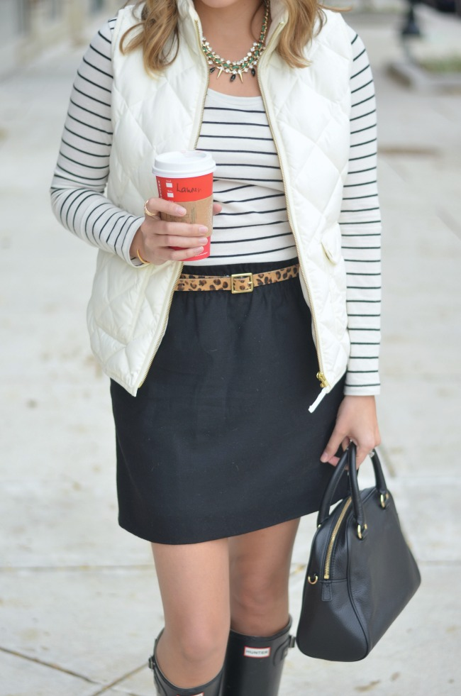 excursion vest with a skirt for fall via fizzandfrosting.com