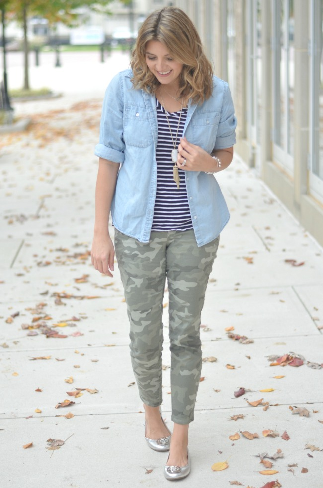 print mix camo and stripes for fall