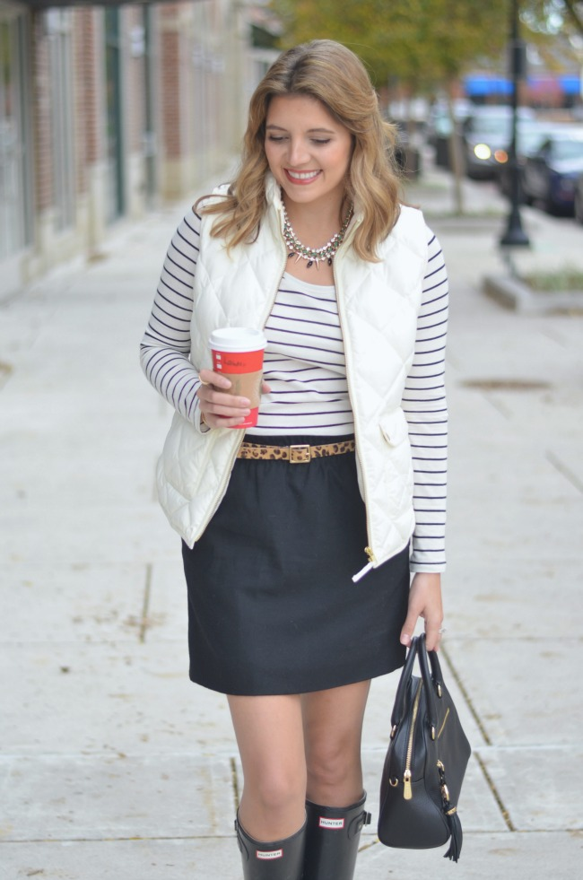 white excursion vest with a skirt via fizzandfrosting.com