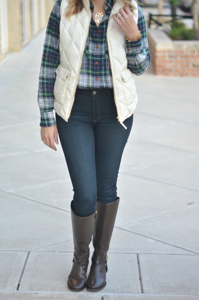 perfect outfit for college football game via fizzandfrosting.com