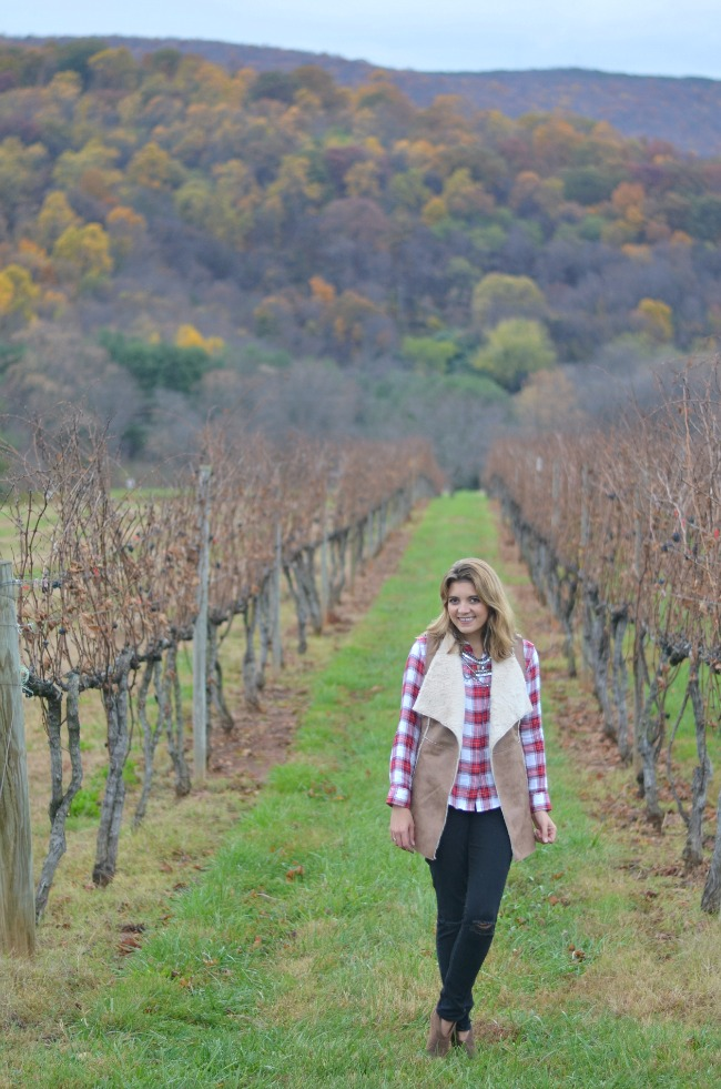 what to wear for to a winery fall via fizzandfrosting.com