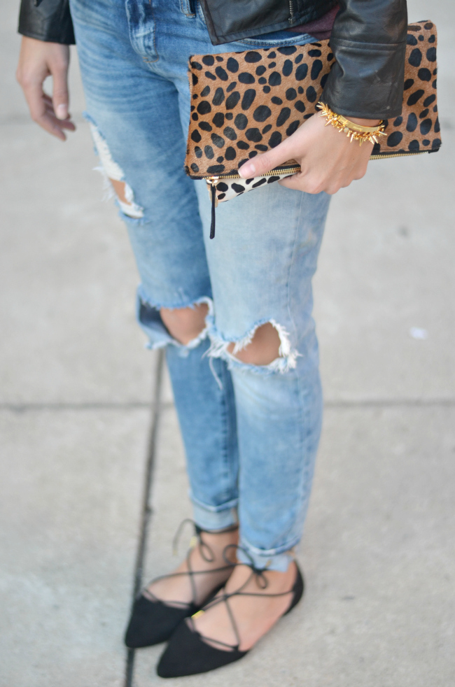 good vibes skinny jeans with lace up flats via fizzandfrosting.com