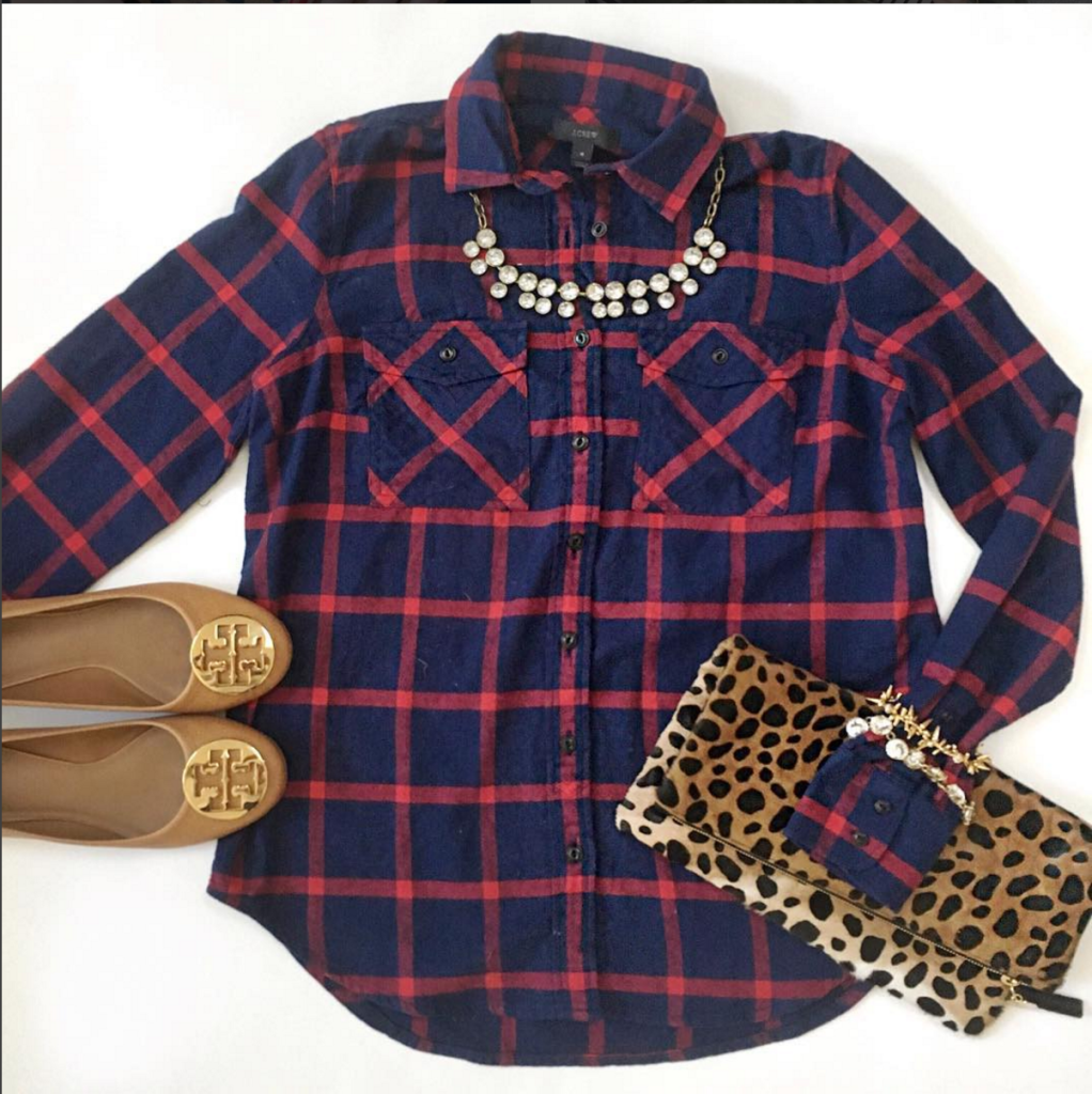 mixed prints - plaid and cheetah print - http://instagram.com/fizzandfrosting