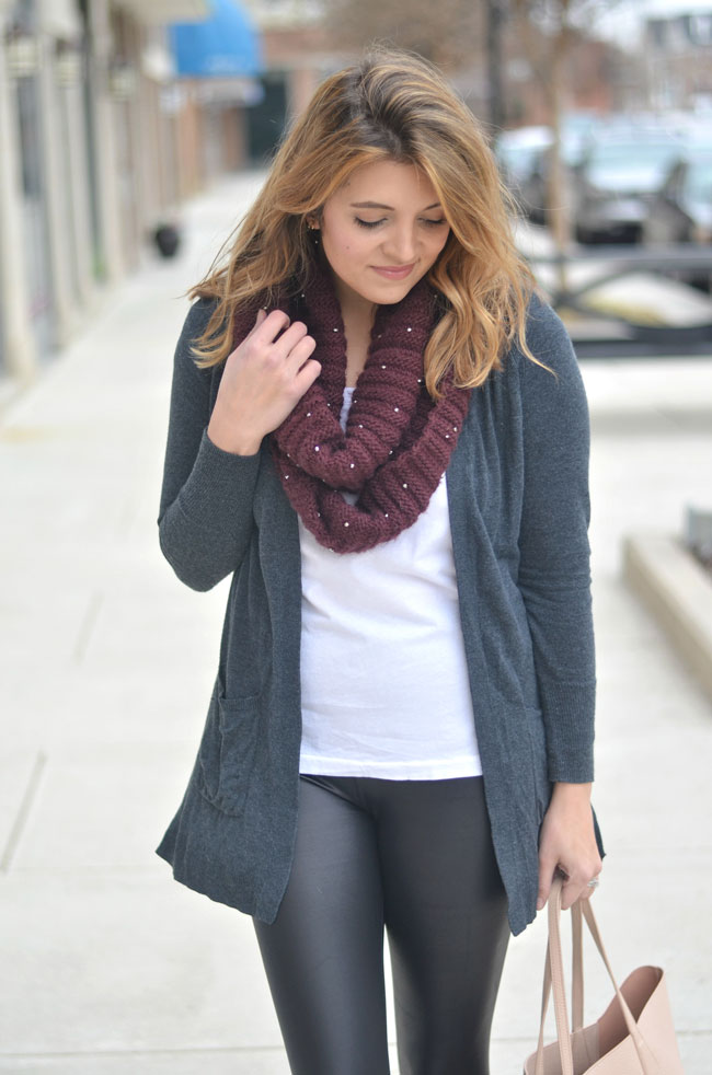 athletic casual - long cardigan, tee, scarf | fizzandfrosting.com