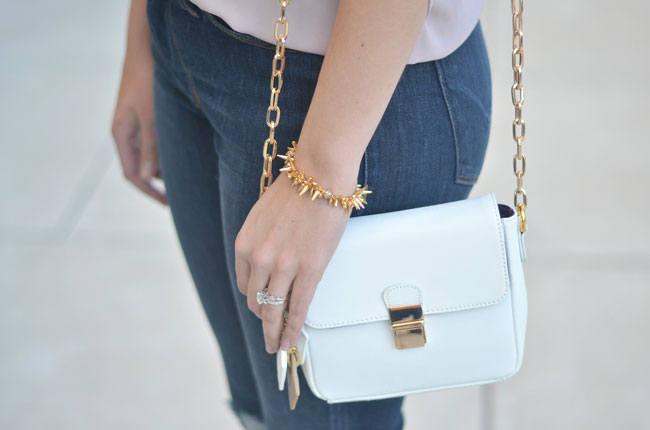 claudia g tiny crossbody white bag | www.fizzanfrosting.com
