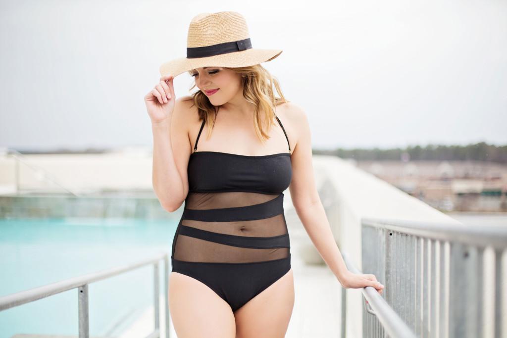flattering one piece swim suit - Target | www.fizzandfrosting.com