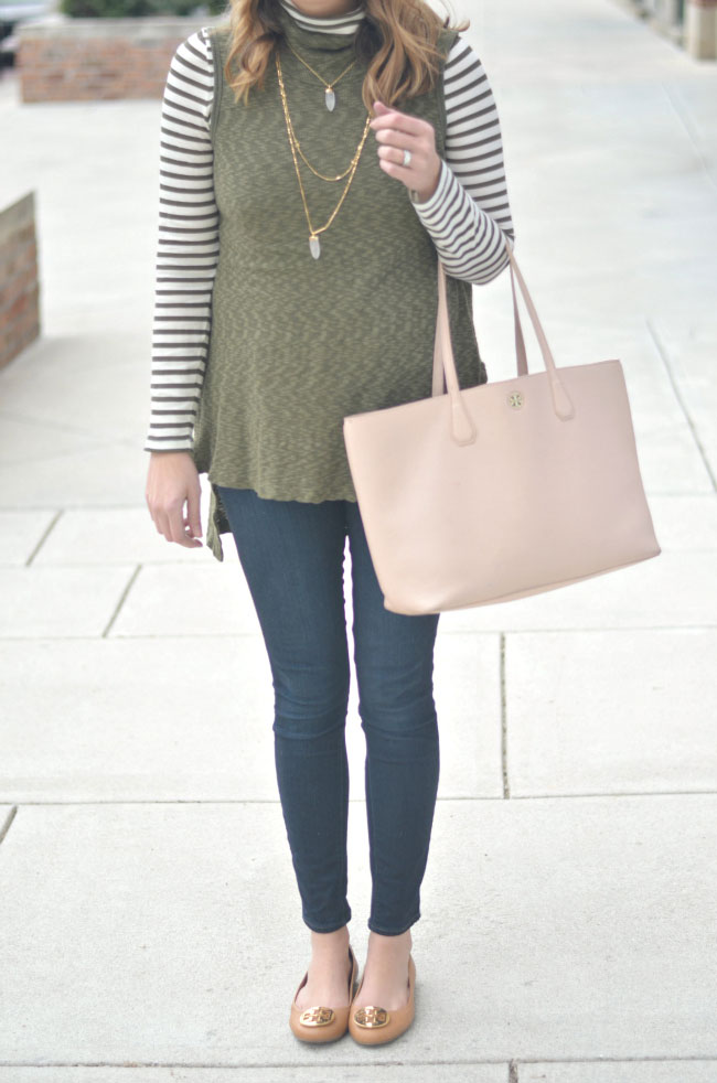 winter outfits - turtleneck tunic with skinny jeans via fizzandfrosting.com