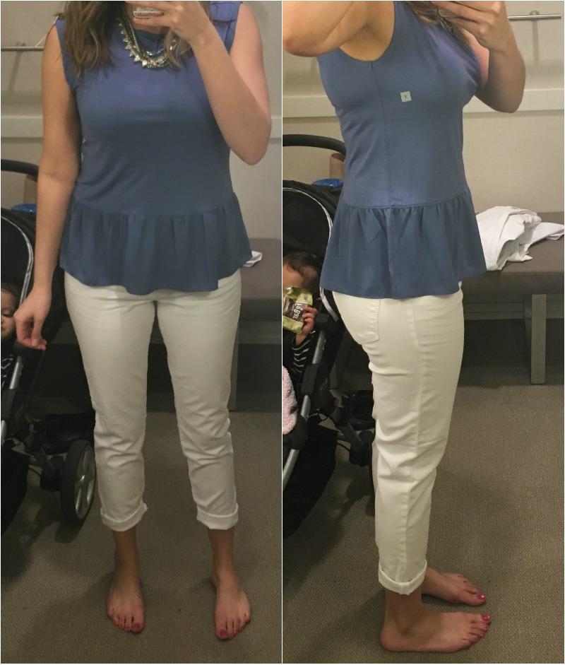 LOFT white jeans - relaxed skinny