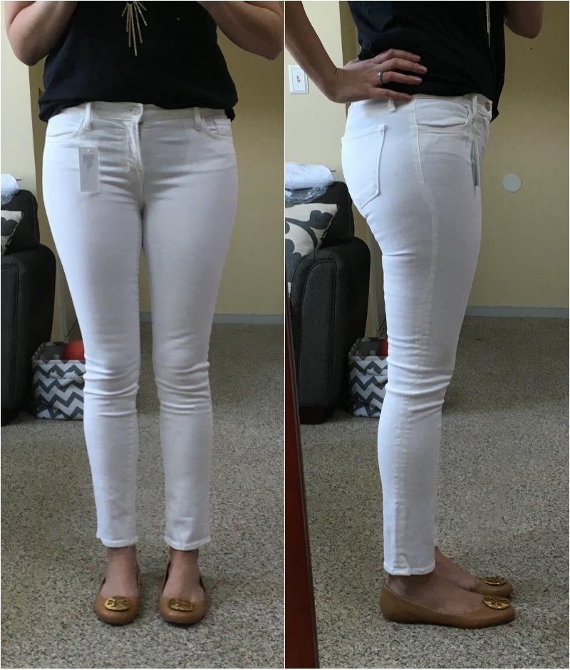 white jeans reviews - j brand mid-rise skinny | www.fizzandfrosting.com