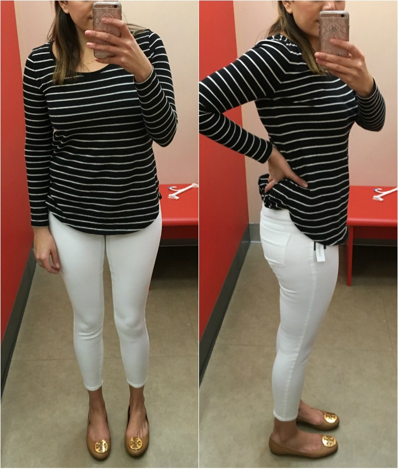 white jeans reviews - target mossimo jegging | www.fizzandfrosting.com