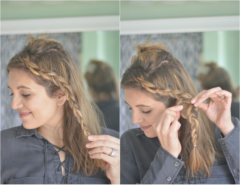 easy five minute braid tutorial | fizzandfrosting.com