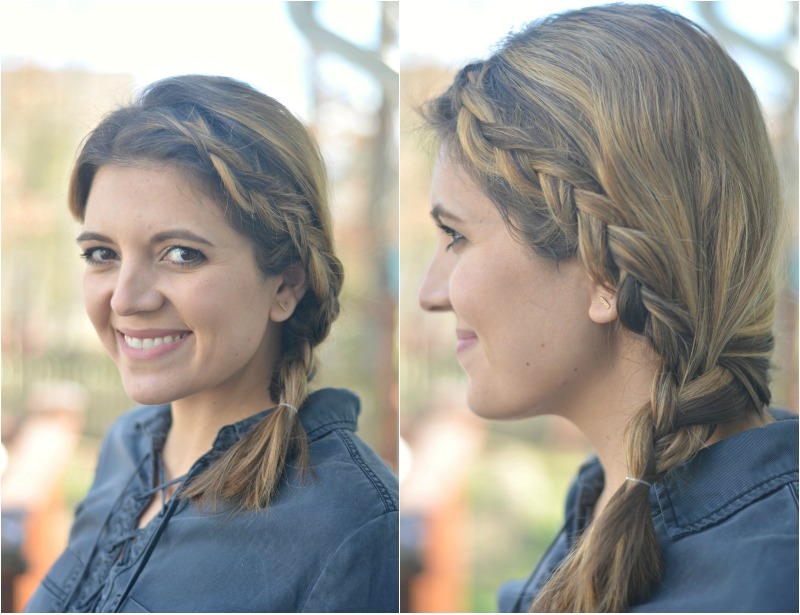five minute double braid tutorial | fizzandfrosting.com