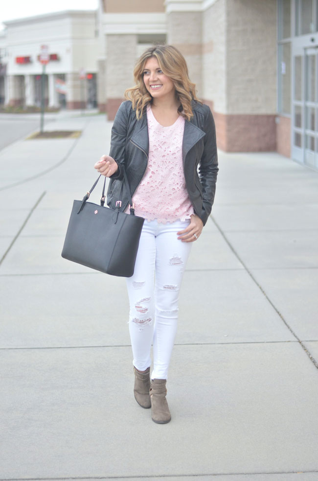 spring style - mix feminine and edgy | www.fizzandfrosting.com