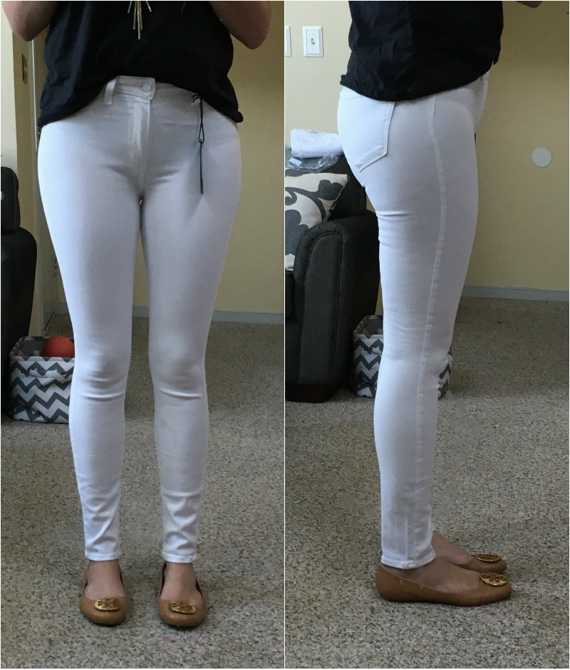 white jeans reviews - paige hoxton high rise | www.fizzandfrosting.com