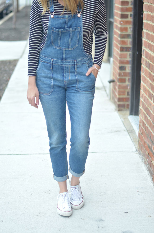 overalls for spring with long sleeve tee | www.fizzandfrosting.com