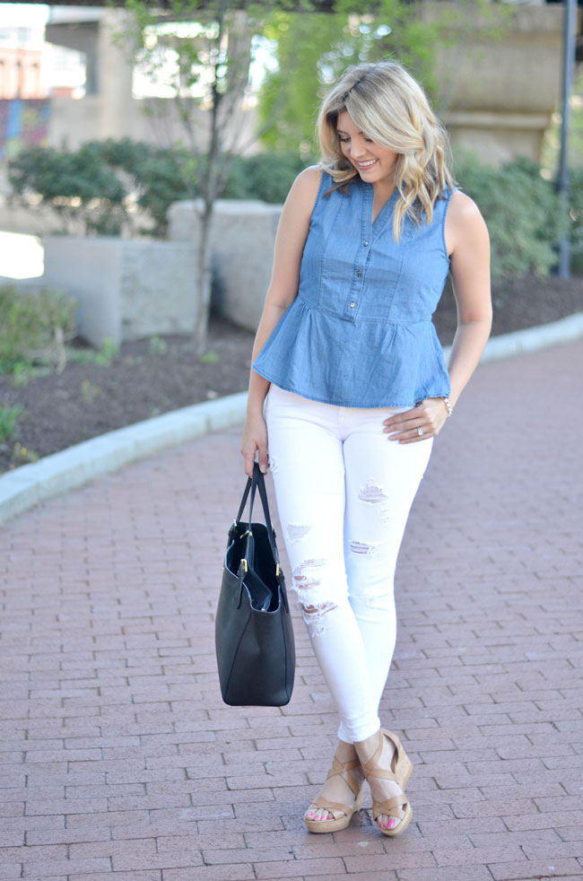 how to wear denim on denim | www.fizzandfrosting.com