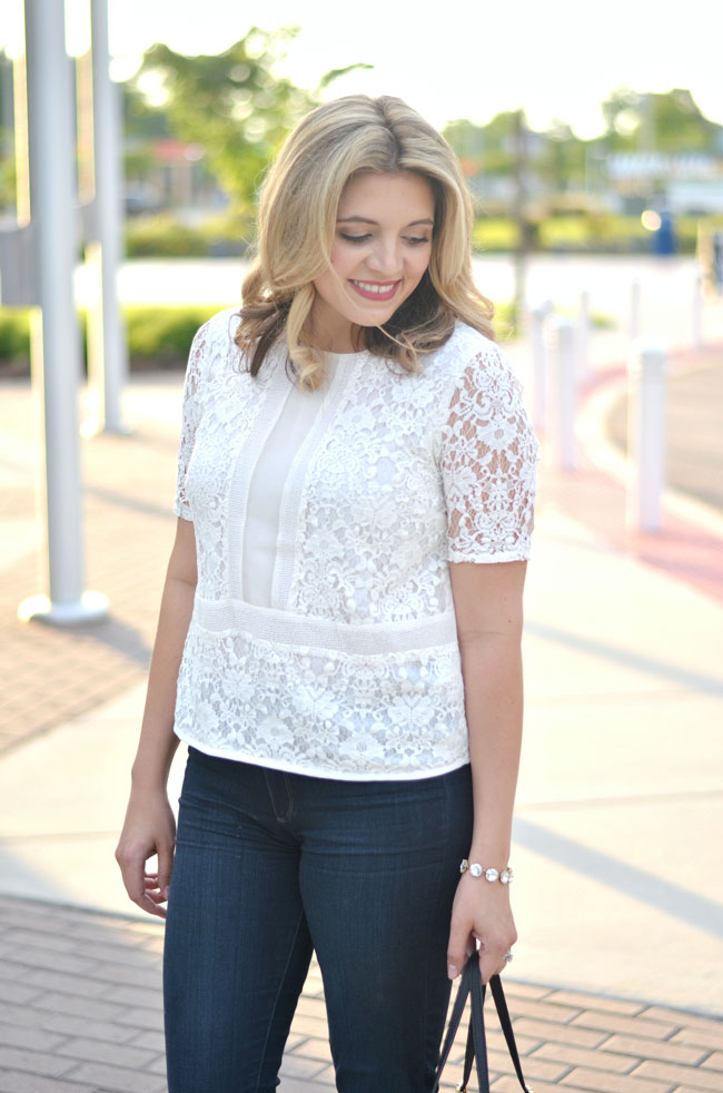 how to wear a lace top | www.fizzandfrosting.com