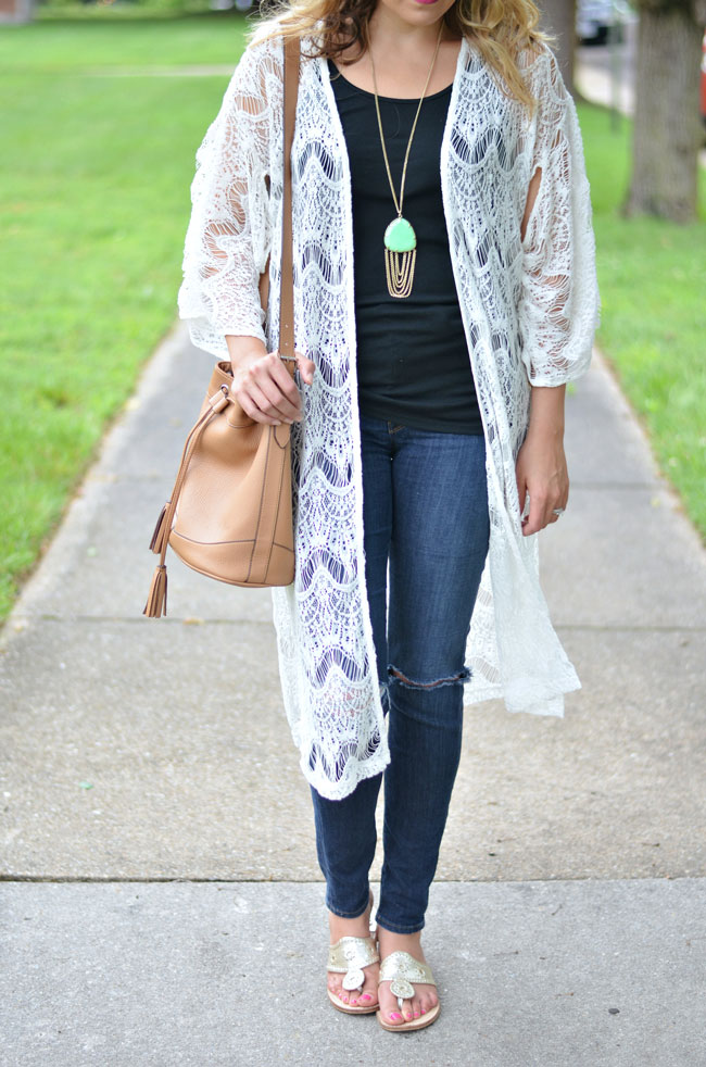 how to wear to long kimono | www.fizzandfrosting.com