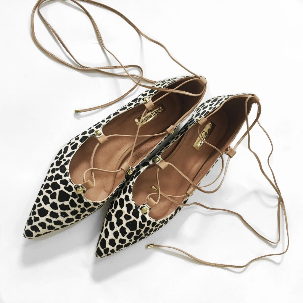 Nordstrom Anniversary Sale shoe review - Halogen animal print lace-up flats | www.fizzandfrosting.com