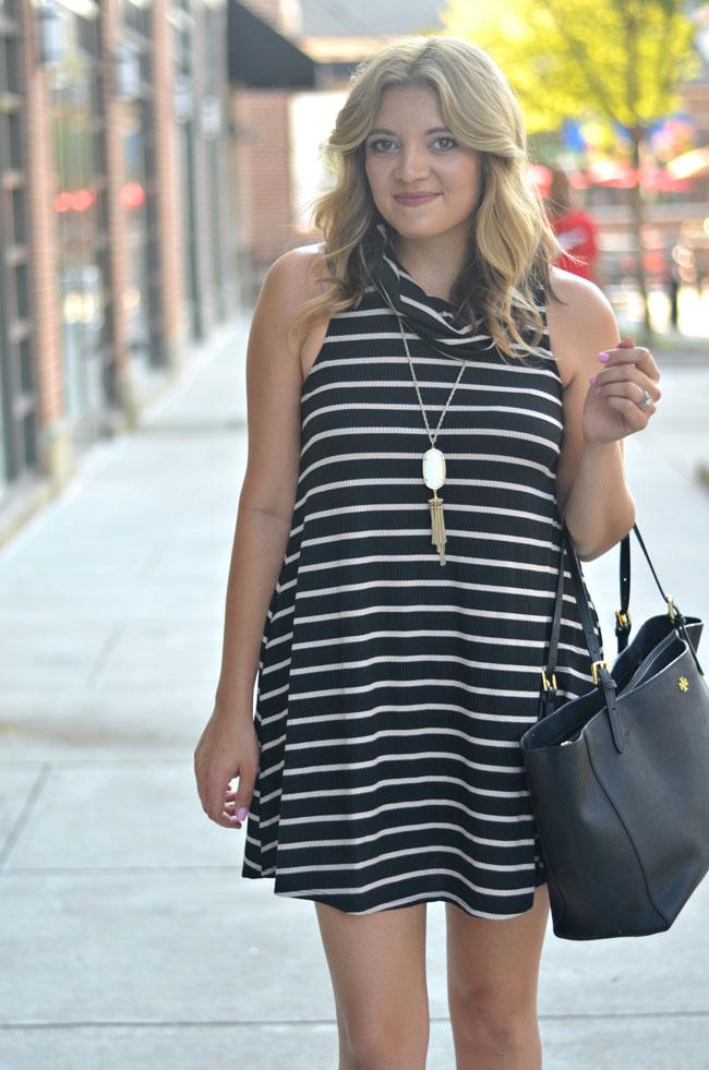 fall style - cowl neck swing dress | www.fizzandfrosting.com