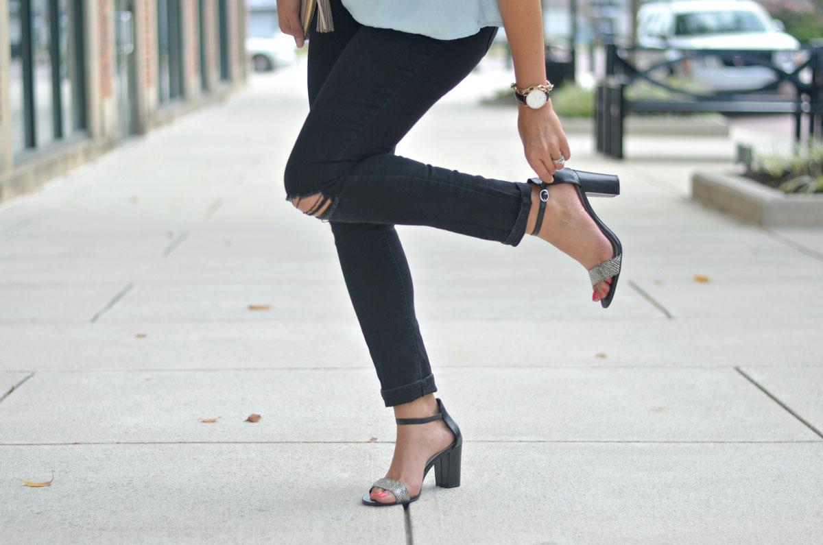 payless block heel sandals   www.fizzandfrosting.com