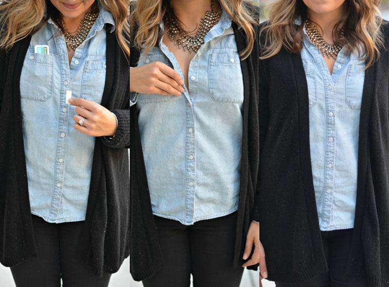 how to fix shirt gaping | fix button down shirt gaping | www.fizzandfrosting.com